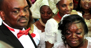 WIFE DISRUPTS NOLLYWOOD ACTOR, SOLOMON AKIYESI'S WEDDING TO MISTRESS