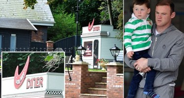 ROONEY BUILDS FAST FOOD HUT FOR THREE YEARS OLD SON