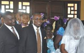 U.N.B.E.L.I.E.V.A.B.L.E! BENUE GOV. GABRIEL SUSWAM IS BEST MAN AT COOK'S WEDDING