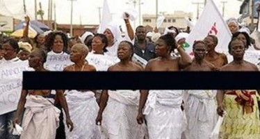 WOMEN PROTEST NUDE OVER KIDNAPPER'S ARREST, CALL FOR HIS RELEASE