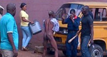 COMMERCIAL BUS DRIVER STRIPS NAKED TO AVOID ARREST
