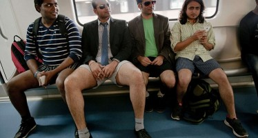 THOUSANDS OUT ONLY WITH UNDERWEAR TO CELEBRATE 'NO PANTS SUBWAY RIDE' IN EUROPE, AMERICA, OTHERS