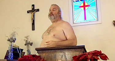 SEE PHOTOS OF WORSHIPPERS IN CHURCH WHERE THEY WORSHIP IN THE NUDE BECAUSE 'JESUS WAS CRUCIFIED NAKED'