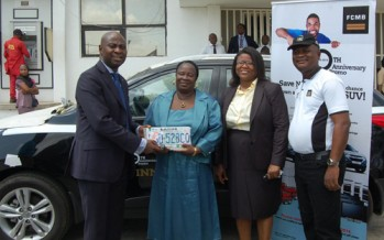 WINNER OF FCMB 30TH ANNIVERSARY PROMO RECEIVES CAR GIFT