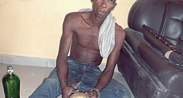 COMMERCIAL BUS DRIVER CAUGHT WITH HUMAN SKULL, ADMITS USING IT FOR MONEY RITUAL