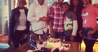 ACTRESS OMOTOLA JALADE-EKEINDE'S SON TURNS 16, MARKS BIRTHDAY IN SOUTH AFRICA WITH MUM, DAD & SIBLINGS