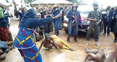 PROTEST: WOMEN STRIP HALF-NAKED IN FRONT OF KADUNA GOVERNOR