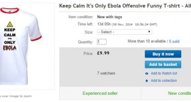 FUNNY EBOLA T-SHIRT SOLD ON NET