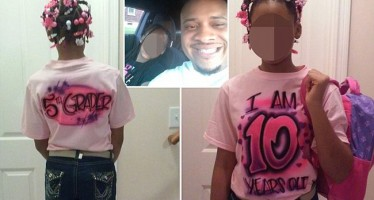 FATHER FORCES 10-YR-OLD DAUGHTER TO WEAR SHIRT REVEALING HER TRUE AGE AFTER SHE LIED ABOUT IT & HAD BOYFRIEND