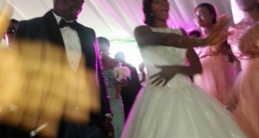 ATHLETE BLESSING OKAGBARE'S WEDDING TO SUPER EAGLES PLAYER IGHO OTEGHERI