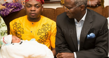 FASHOLA MAKES SURPRISE VISIT TO OLAMIDE'S SON'S NAMING CEREMONY