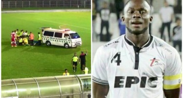 NIGERIAN FOOTBALLER SLUMPS TO DEATH DURING FRIENDLY MATCH 8-DAY AFTER BIRTHDAY