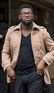 Pic shows Kenneth Umezie at the Old Bailey today (Mon). Kenneth Umezie is the ex boyfriend of Comfort Yinusa, a young woman who admitted she falsely accused a man of rape. Comfort Yinusa, 23, pleaded guilty to a charge of perverting the course of justice when she appeared before London's Old Bailey. See story: Central News 0207 2360116