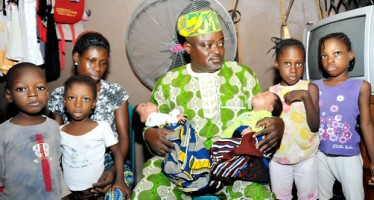 Triple twins' mother Whose Husband abandoned Welcomes Lagos Speaker to Her Home