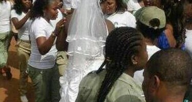 BRIDE LEAVES GUESTS WAITING TO APPEAR AT NYSC HEADCOUNT IN WEDDING GOWN