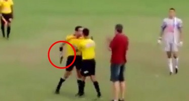 WATCH VIDEO OF BRAZILIAN REFEREE PULLING OUT GUN AT MATCH
