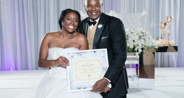 Virgin bride presents 'certificate of purity' to dad at wedding