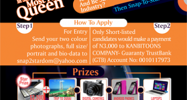 SNAP TO STARDOM CALLS FOR CONTESTANTS