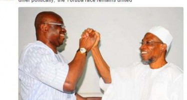 AREGBESOLA DESCRIBES MEETING WITH FAYOSE AS 'HISTORIC'
