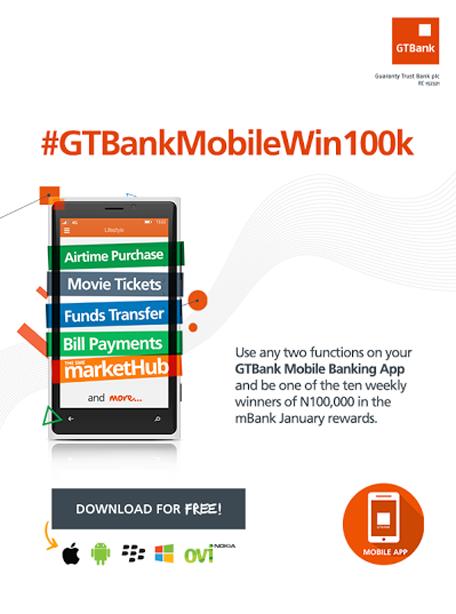 OrijoReporter.com #GTBankMobileWin100k, MBANK JANUARY REWARD