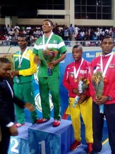 Femi Oyeleye (third from right)