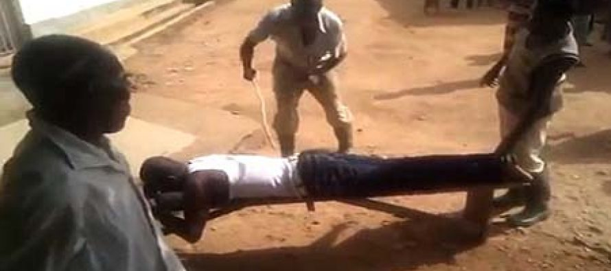 Watch video: Man flogged in public after he was caught sleeping with another man's wife