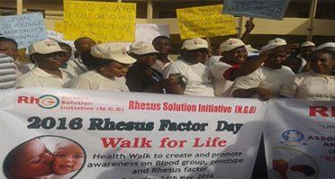 Muiz Banire's wife leads Rhesus Awareness walk