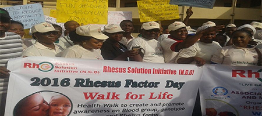 Muiz Banire's wife leads Rhesus Awareness walk