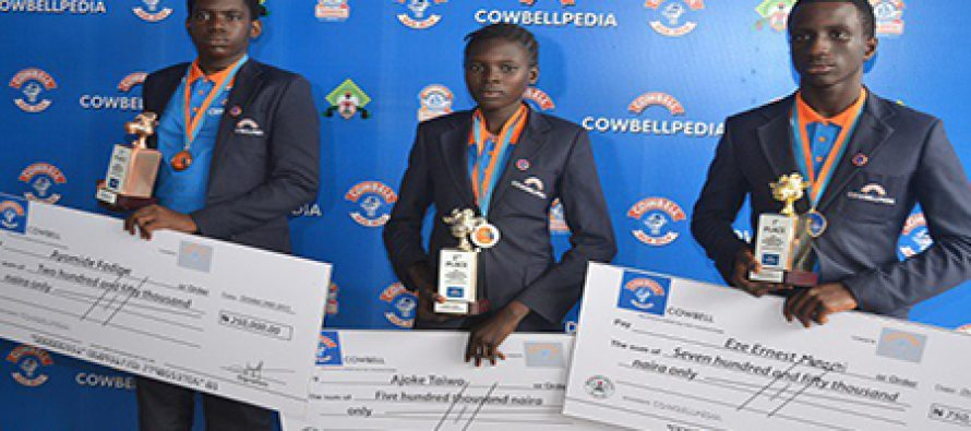 2016 Cowbellpedia Winners to go home with N6m
