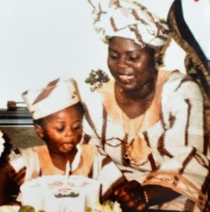 Moses as a boy with his mother, Esther