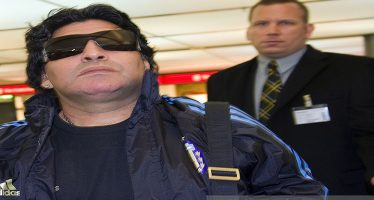 Diego Maradona stopped from boarding flight over theft