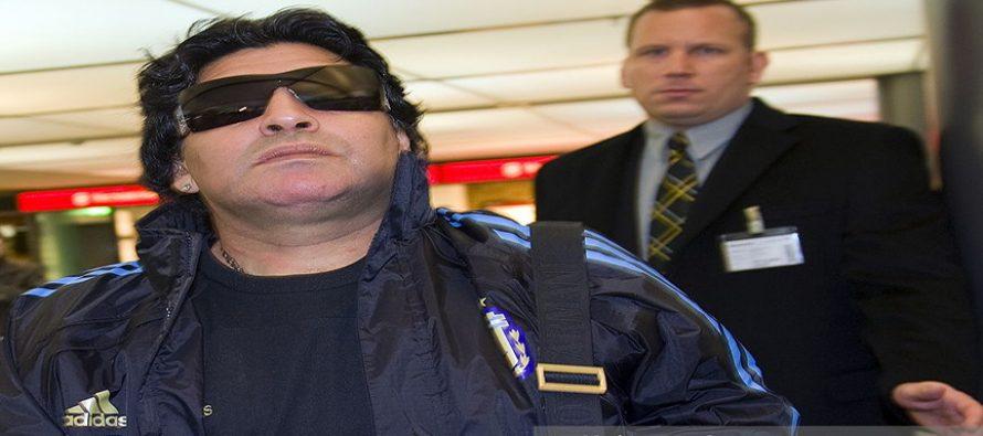 Diego Maradona stopped from boarding flight over theft