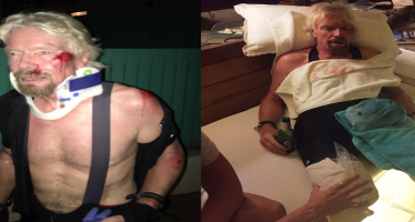Richard Branson survives horrific bike accident