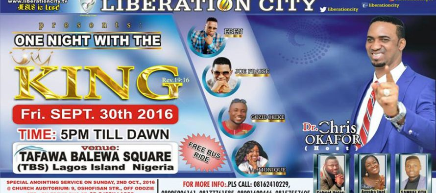 Thousands to attend Prophet Chris Okafor's 'One night with the king'