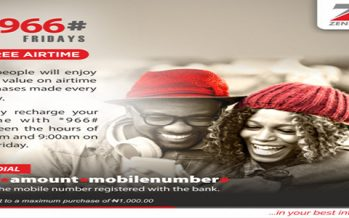 Zenith Bank launches free airtime promo