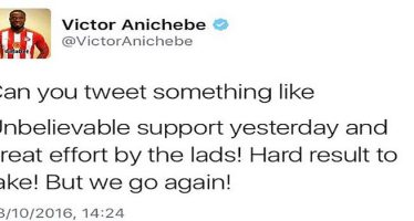Victor Anichebe faces backlash on Twitter over stolen tweets