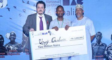 Godwin Uzoji wins National Art Competition