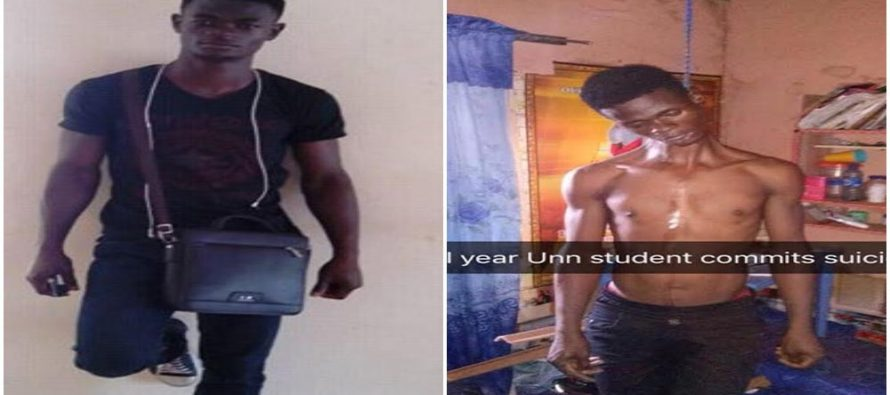 OrijoReporter.com, UNN Final year student who committed suicide