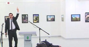 Russian ambassador shot dead by gunman screaming 'Allahu akbar'