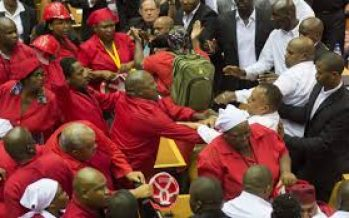 Video: Fist fight in South African parliament over President Zuma