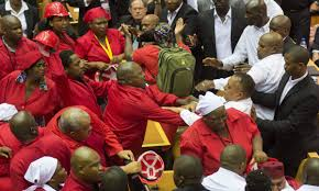 OrijoReporter.com, Fight in South African parliament