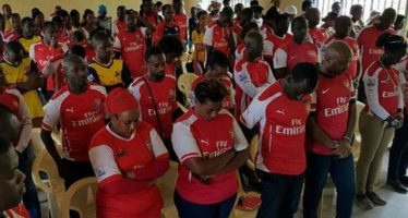 'Arsenal fan' dies while jogging