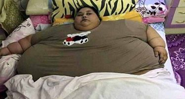 World's fattest woman lifted out of her bed by a CRANE after 25 years