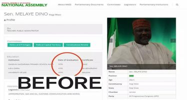 Senate removes Melaye's profile on its website