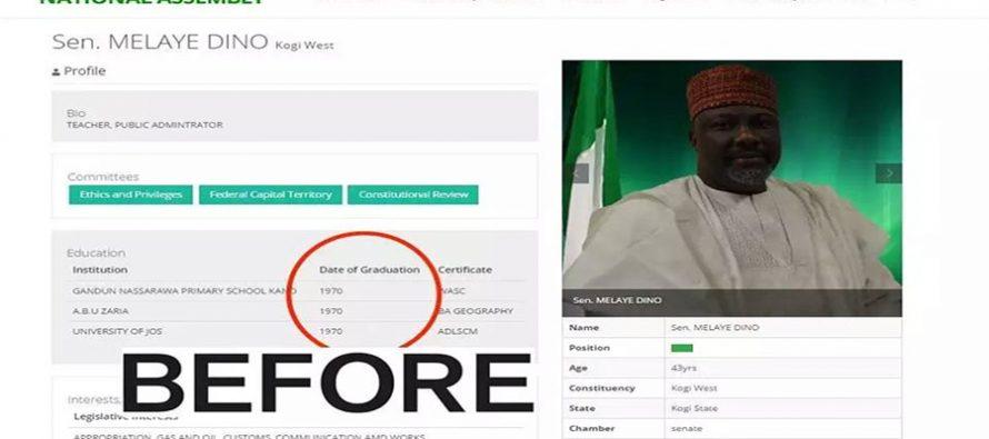 Senate removes Melaye's profile on its website