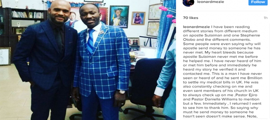 Nollywood stars rally support for Apostle Suleman