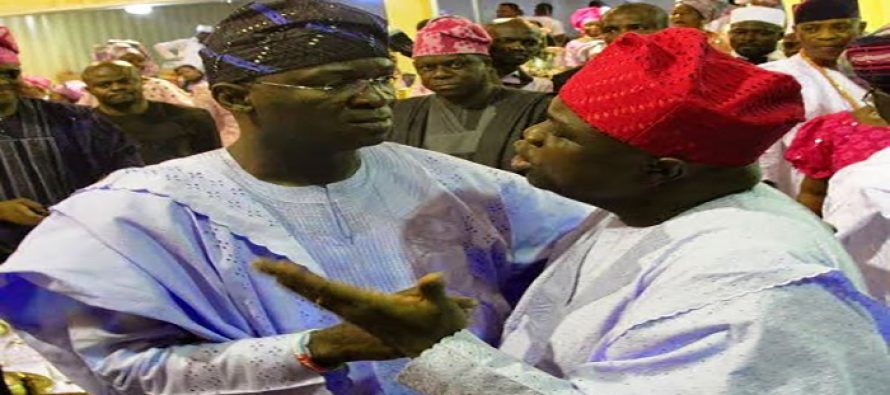 Fashola hints that Ambode and him are fighting