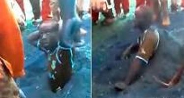 Video: Man buried alive for stealing