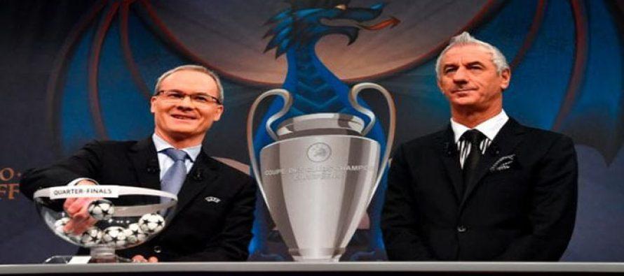 UEFA Champions League & Europa quarter final draws