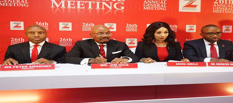 Shareholders approve Zenith Bank's N63.4bn Dividend